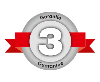 3 year manufacturer's guarantee