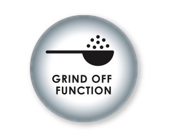 Grinder can be switched off