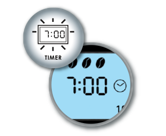 Practical timer feature including clock with LCD display