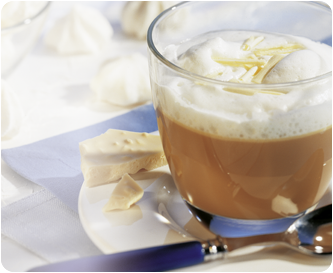 Weißer Schoko-Kaffee